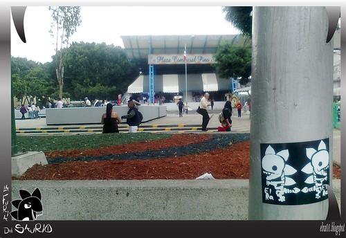 stickers en el centro de México, Pino Suárez