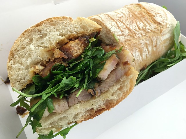 Spit roasted porchetta sandwich - Split Bread