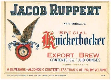 Special-Knickerbocker-Export-Brew-Labels-Jacob-Ruppert--pre-Prohibition-