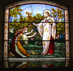 Mary Magdalene meets Christ in the Garden, by Ward & Hughes