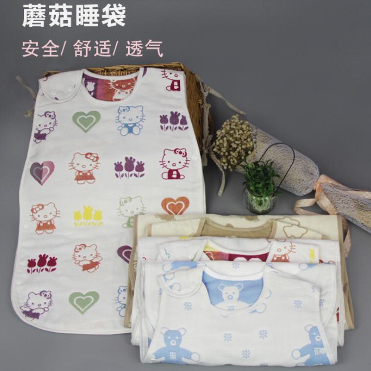 100%純天然棉6層紗布透氣幼童空調防踢被- HELLO KITTY 質感可比日本HOPPETTA蘑菇 3-7歲 大號