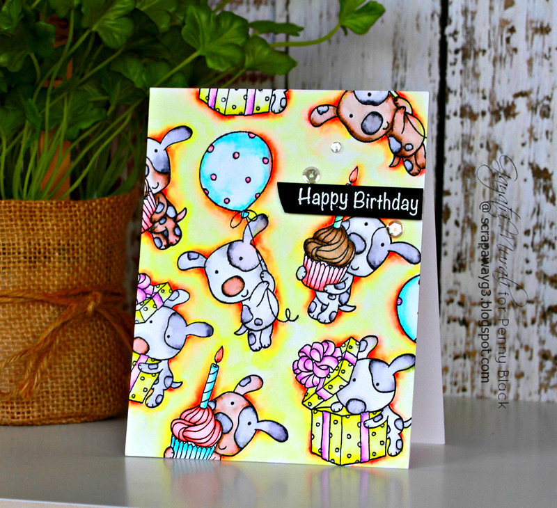 Doggie birthdaycard #3