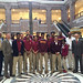 Rep. Selim Noujaim posed for a photo with the State Champion Sacred Heart High School boys basketball team on Monday, April 25.