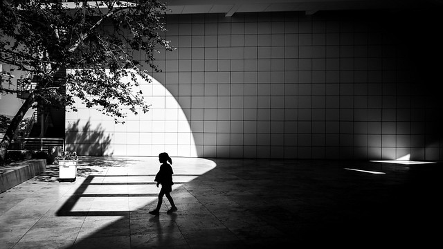 The Getty museum - Los Angeles, United States - Black and white street photography
