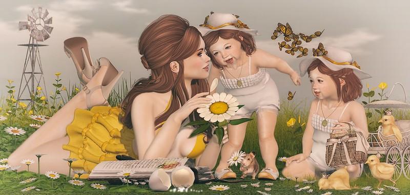 """Amelie et les petites: """"Loves me... loves me not"""""""