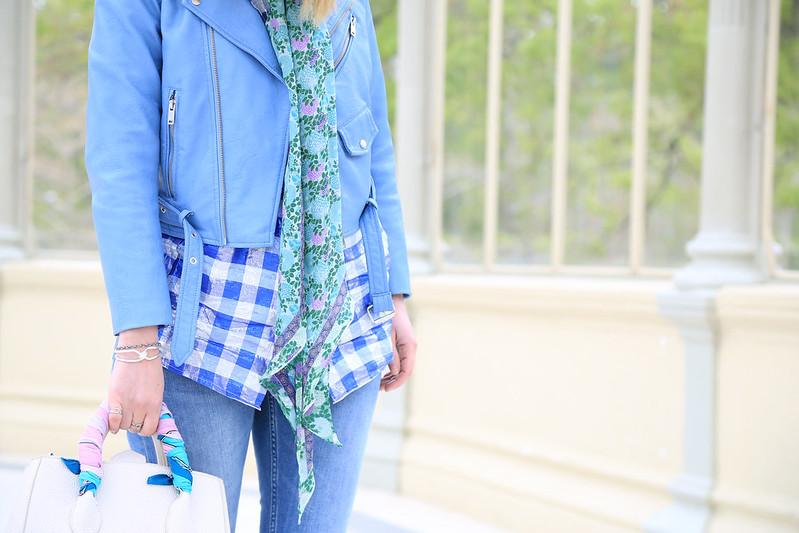 chemise-lurex-à-carreaux-perfecto-bleu