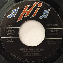AL GREEN:KEEP ME CRYIN'(LABEL SIDE-A)