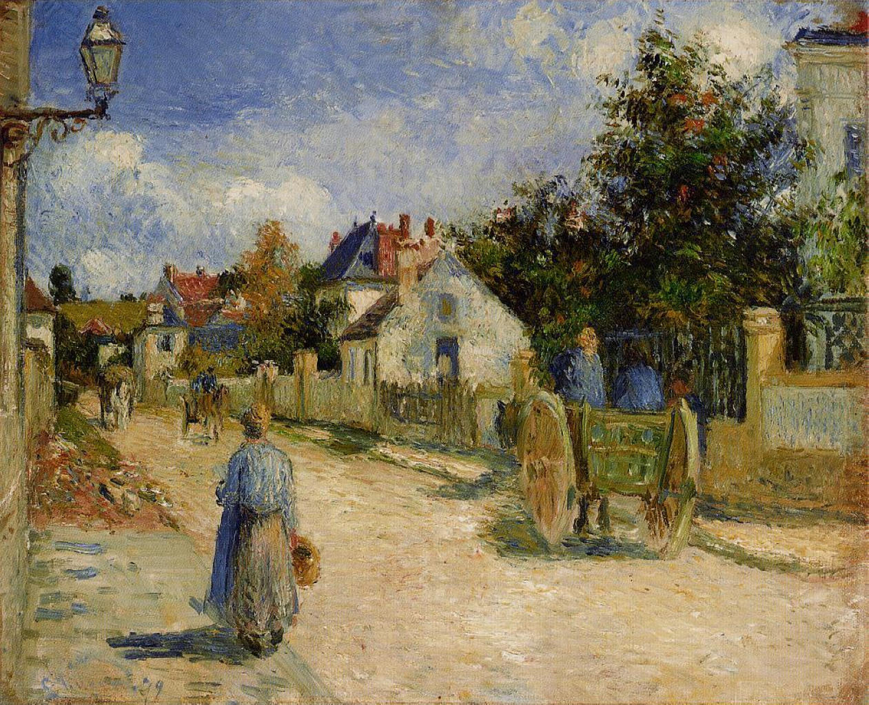 A Street in Pontoise by Camille Pissarro, 1879