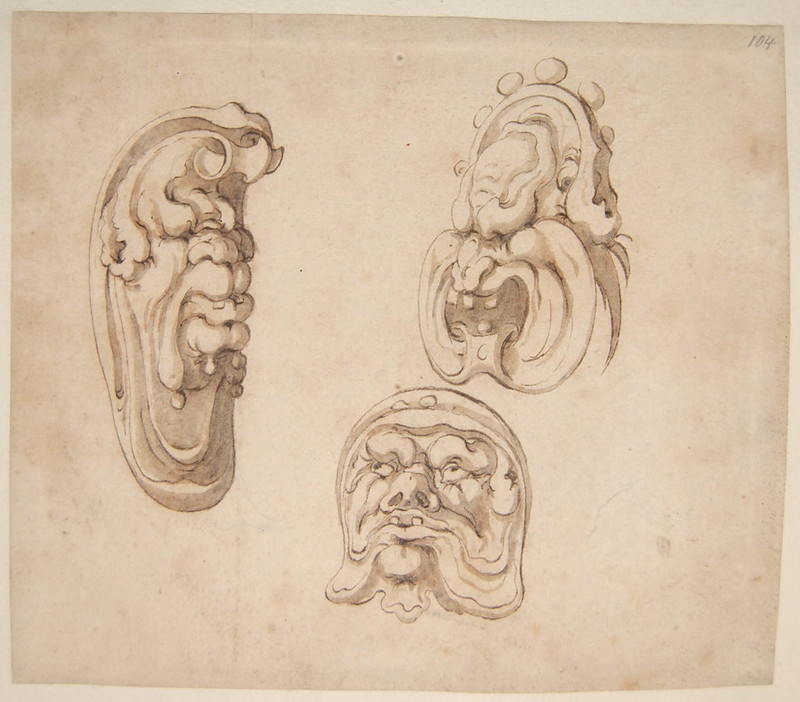 Arent van Bolten - Monster 104, from collection of 425 drawings, 1588-1633