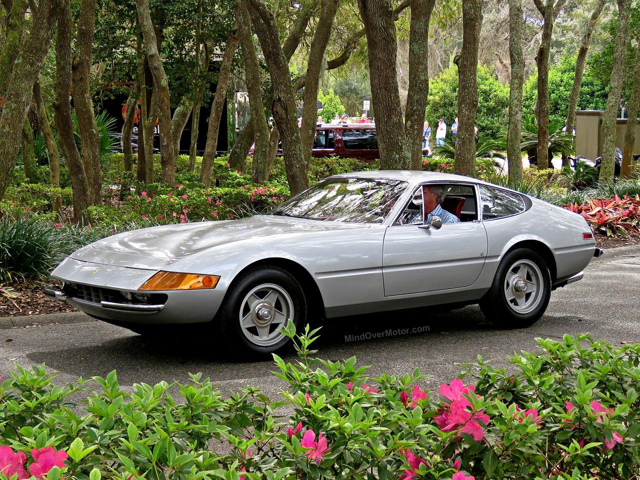 Silver Ferrari 365 GTB4 Daytona Amelia Island