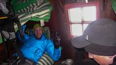W schronie Biv. Parravicini 3183m - Tomek