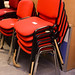 Ex demo metal stacking chairs