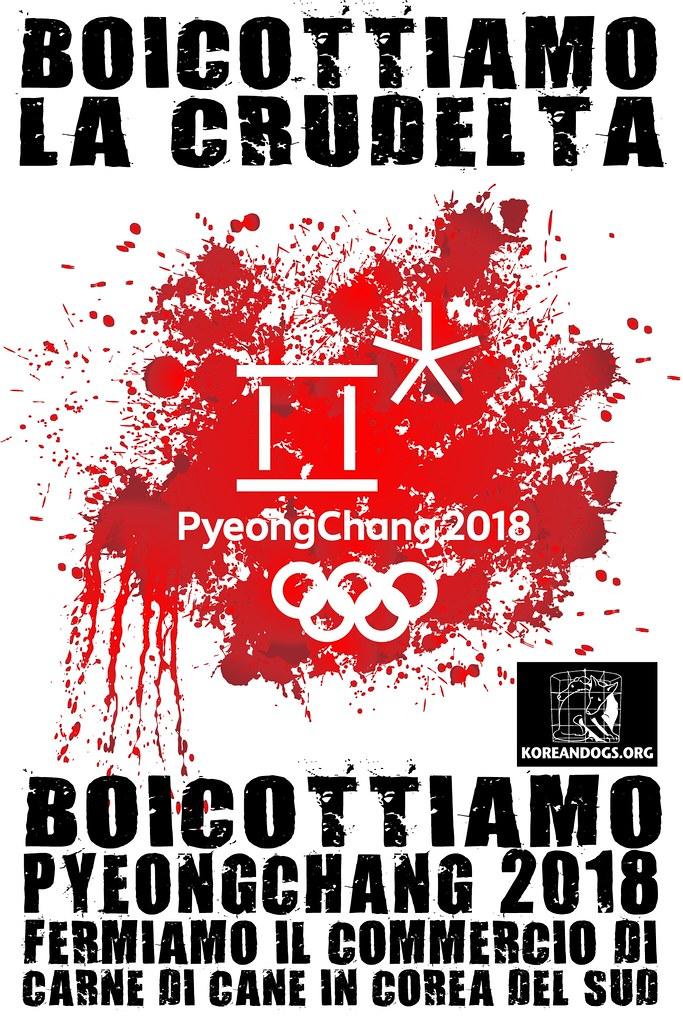 BOICOTTIAMO PYEONGCHANG 2018