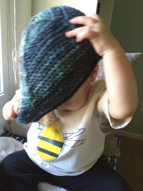 Garter earflap hat