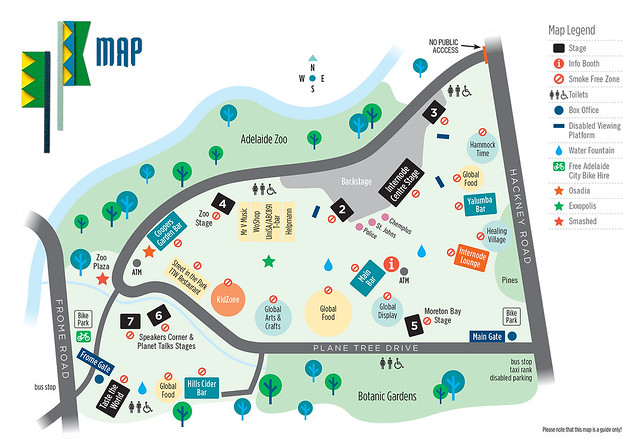 WOMADelaide-Map