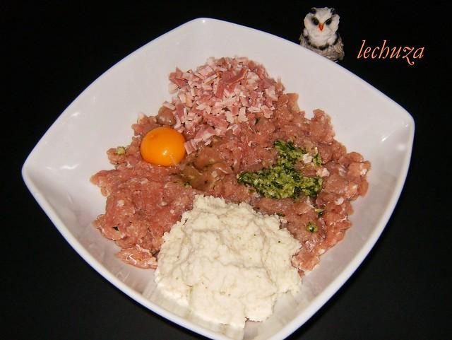 rollitos de carne picada-ingredientes
