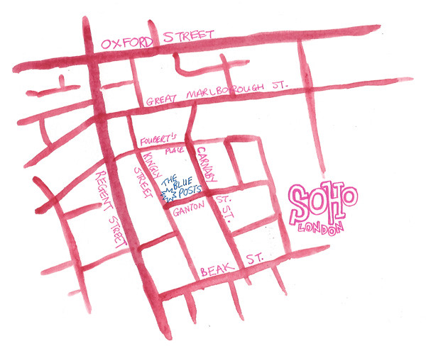 map, soho, london