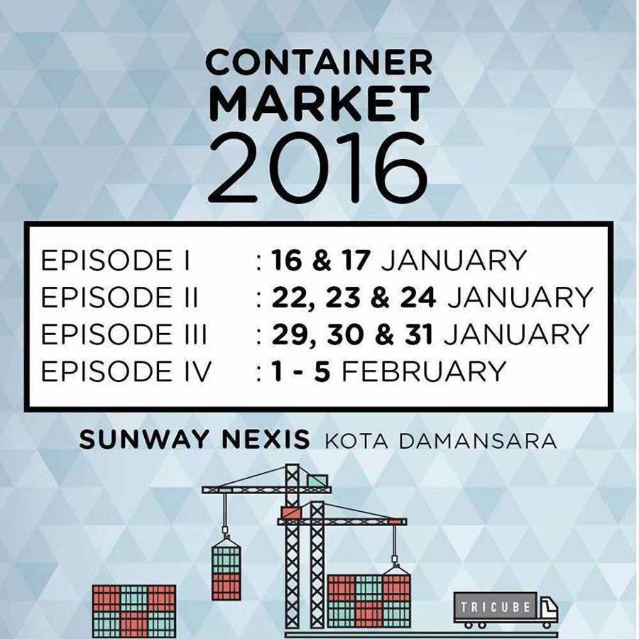 malaysia tricube container flea market sunway nexis kota damansara