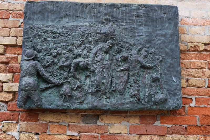 City Monument - The Barbed Wire & The Holocaust Panels, Venice Ghetto