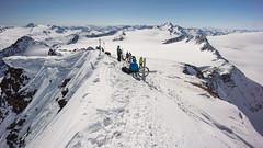 Typowo narciarski szczyt Fluchtkogel (3497m)
