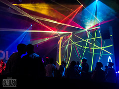DLD Party visuals and laser