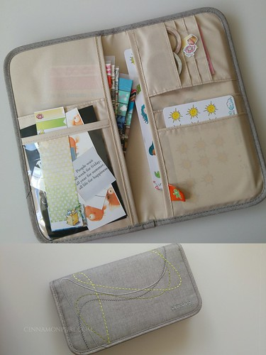 document bag with stickers and washi