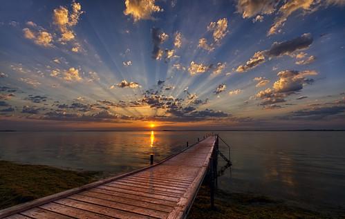 morning water clouds sunrise work denmark europe jetty tags dk rays geotag hdr highdynamicrange 2015 kalvehave bo47 nikkor1424mmf28 bonielsen nikond3s regionzealand wwwjustwalkedbycom wwwbonielsenme