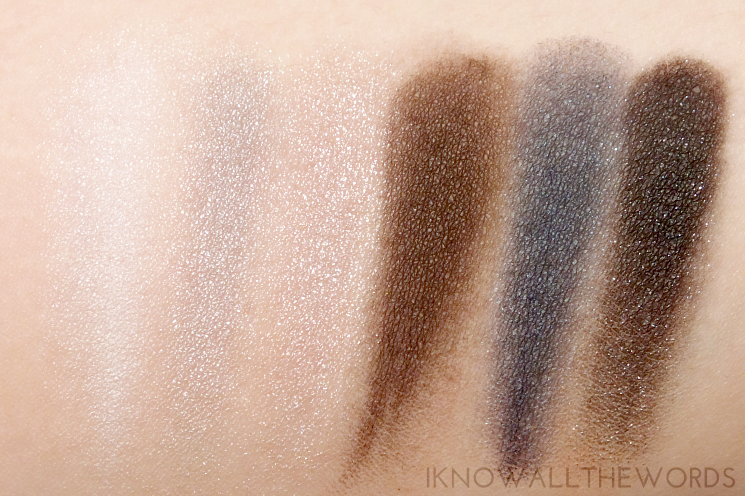 Maybelline The Rock Nudes Palette Swatches- top row (1)