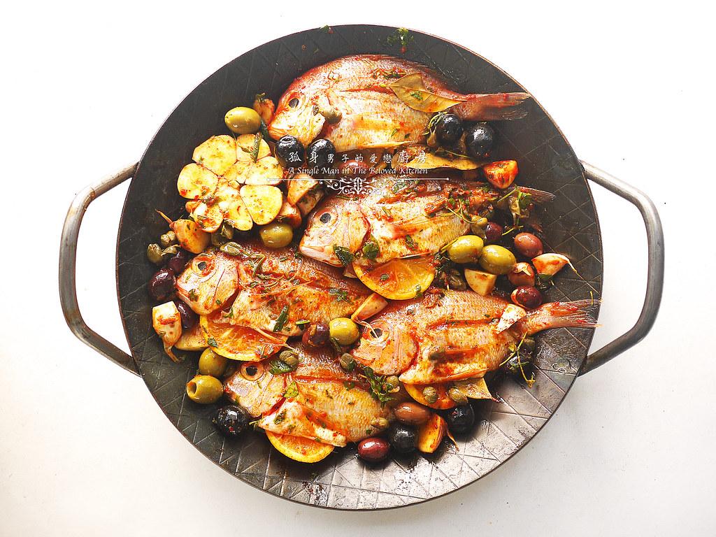 孤身廚房-橄欖柑橘香烤赤鯮12