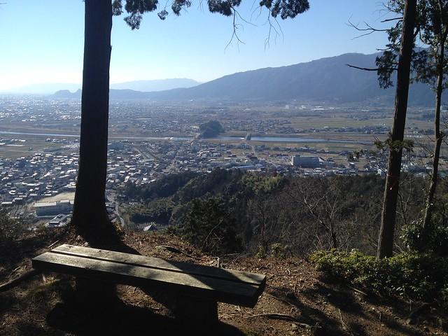 城台山 揖斐城址 出丸からの眺望