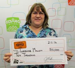 Lorraine Mallett - $10,000 Idaho $1,000,000 Raffle