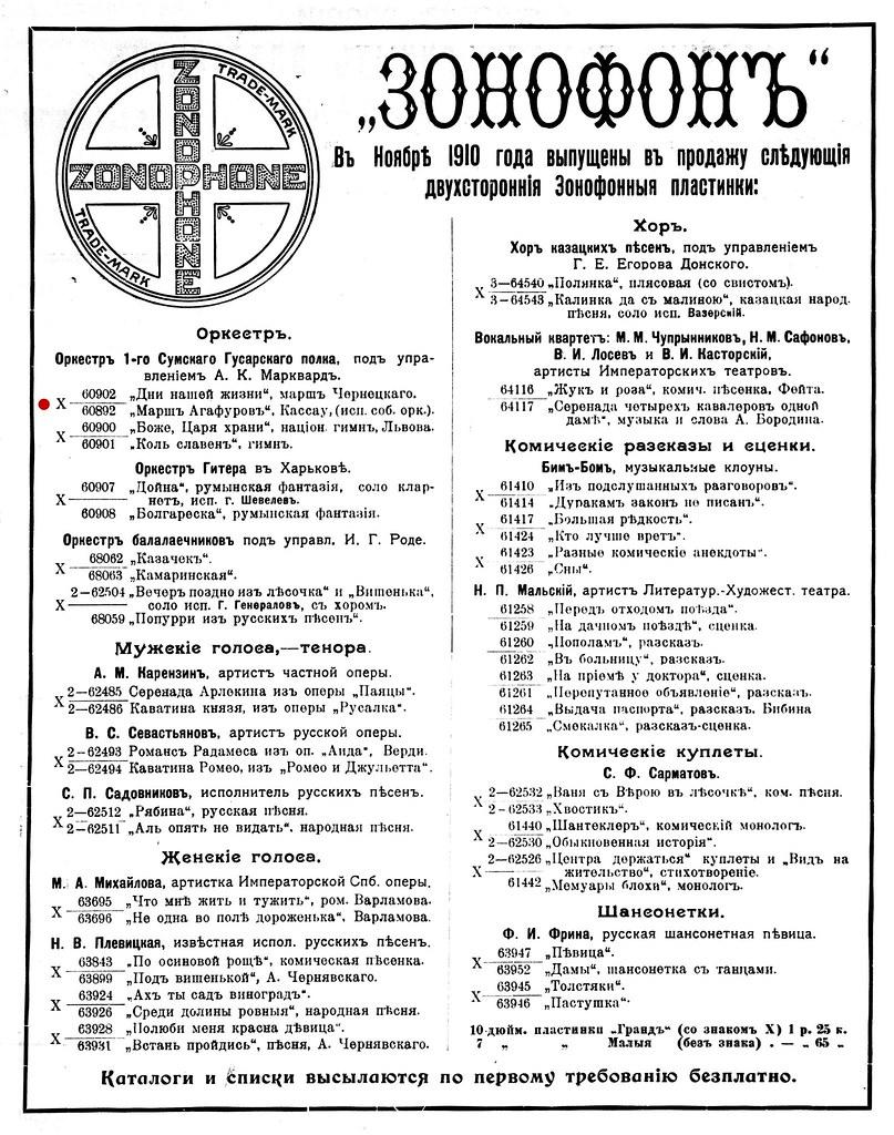 1910. № 10. Граммофонный мiръ_Страница_08