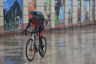 All Weather Cyclist, Brown Street, Manchester, England.