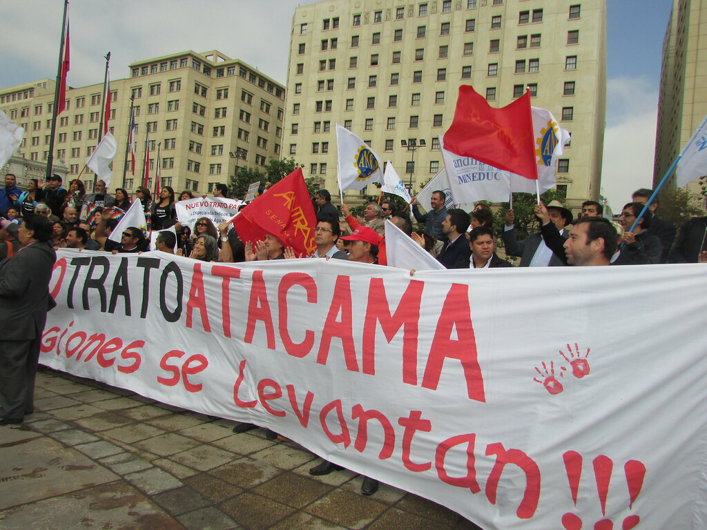 Dirigente AFUDEP Atacama en Santiago para presionar al Gobierno y luchar por sus demandas - 04 Abril 2016