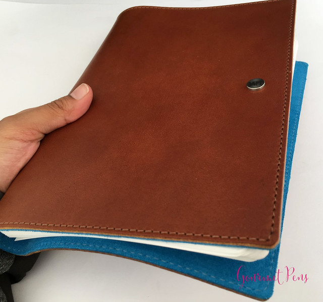 Review @WilliamHannahUK Whiskey & Kingfisher Leather Notebook (29)