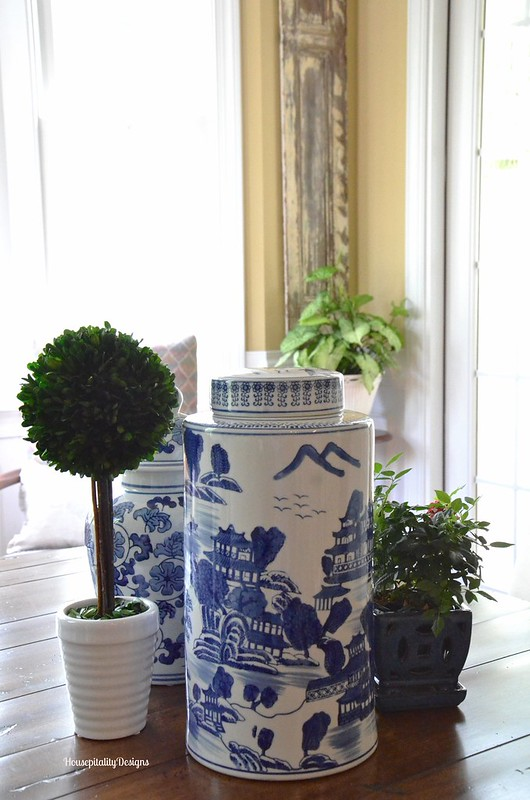Blue and White Centerpiece - Housepitality Designs