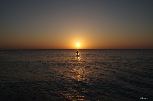 ocean travel sunset orange water colors fire fishing fisherman pentax caribbean grandcayman k50 18270mm