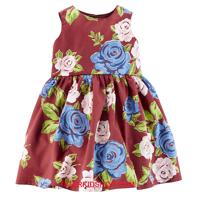 Quần áo trẻ em, bodysuit, Carter, đầm bé gái cao cấp, quần áo trẻ em nhập khẩu, Đầm Carter's nhập Mỹ chính hãng 18M-24M