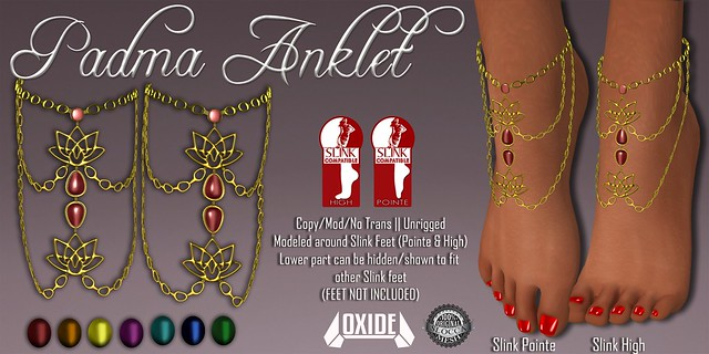 OXIDE Padma Anklet for Slink Pointe/High