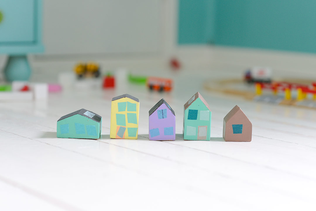 Little DIY toy wooden houses