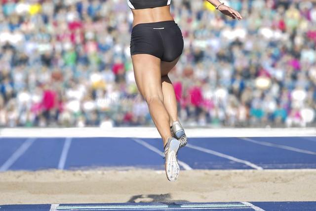 2016 female long jumper sand box