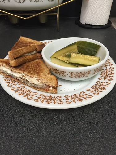 Sandwich and pickles