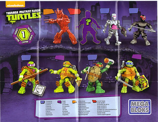 MEGA BLOKS :: Nickelodeon TEENAGE MUTANT NINJA TURTLES :: Micro Action Figures Series I, instructions v.1 A (( 2016))