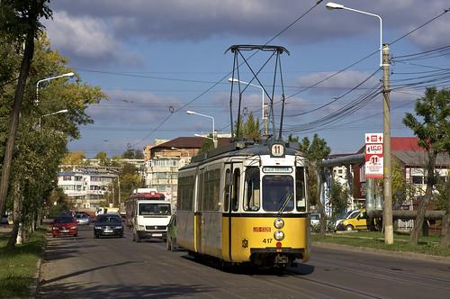 me stuttgart tram romania streetcar iasi ratp gt4 417 rumänien mfe trambahn tramvai esslinger linie11 iași strasenbahn ratc maschinenfabrikesslingen ratpiasi