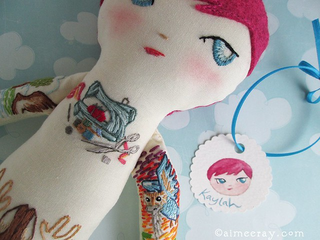 The Dainty Squid custom tattooed doll ❤️