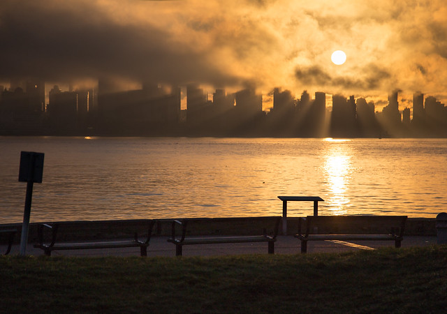 Vancouver Sunset Fog