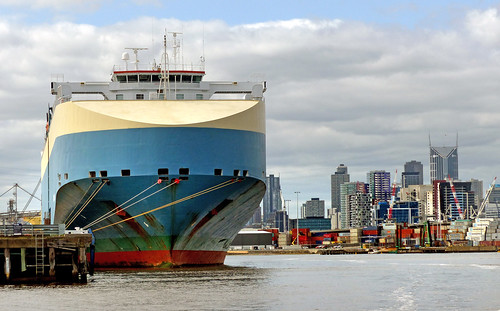 Shipping. Port of Melbourne.