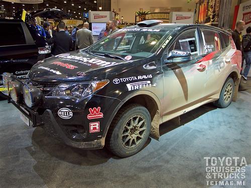 Ryan Millen's winning Toyota RAV4 rally racer.
