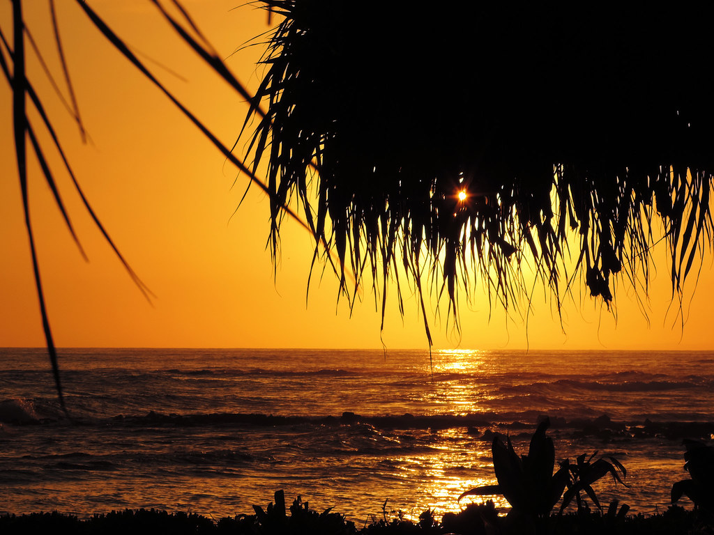 Sunset at Poipu Beach, Kauai, Hawaii