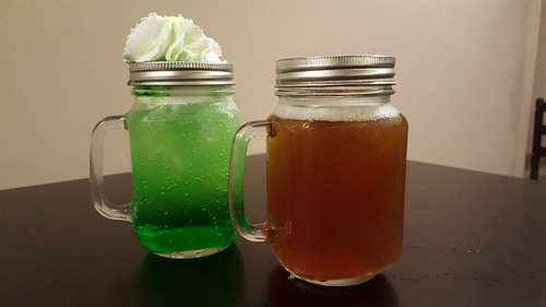 Green Apple Soda and Lemon Tea Cooler | Dinner at Koffie Pauze In Its New Home at Roxas Avenue Dormitory - DavaoFoodTrips.com